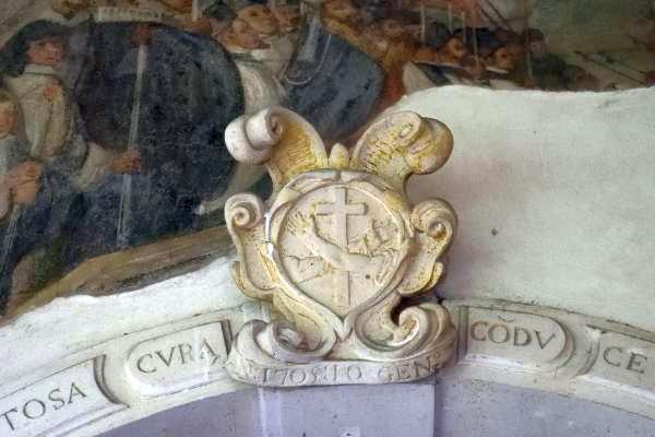 Convento di San Francesco - Padova - Chiostro S. Antonio - Segno di San Francesco