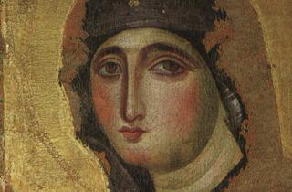 Madonna di San Sisto - Chiesa di Santa Maria del Rosario - Monte Mario -Roma (particolare)