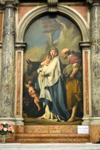 Oratorio di Santa Margherita - Padova - Lato destro - Altare della Fuga in Egitto - Pala