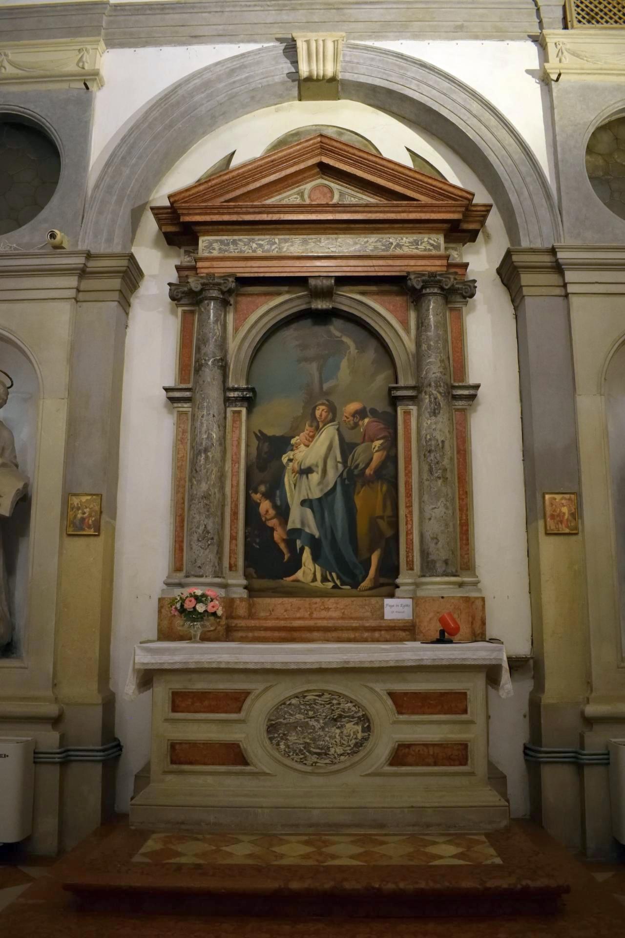 Oratorio di Santa Margherita - Padova - Lato destro - Altare della Fuga in Egitto