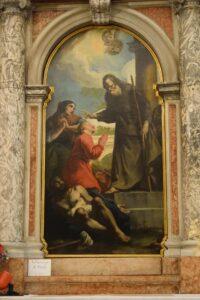 Oratorio di Santa Margherita - Padova - Lato sinistro - Altare di San Francesco di Paola - Pala