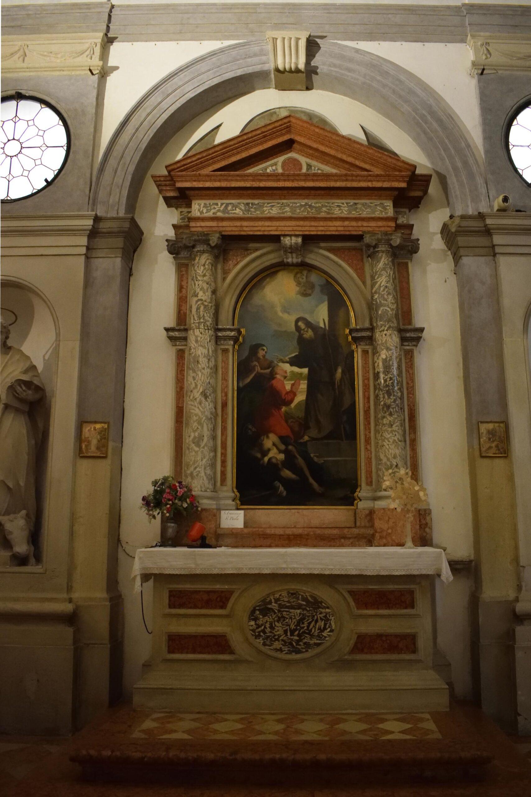 Oratorio di Santa Margherita - Padova - Lato sinistro - Altare di San Francesco di Paola