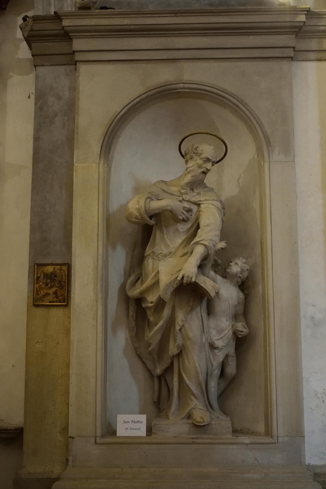 Oratorio di Santa Margherita - Padova - Lato sinistro - San Matteo Evangelista