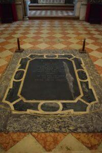 Oratorio di Santa Margherita - Padova - Pavimento - Tomba di Anna Zago