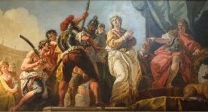 Oratorio di Santa Margherita - Padova - Presbiterio - Condanna di Santa Margherita (particolare)