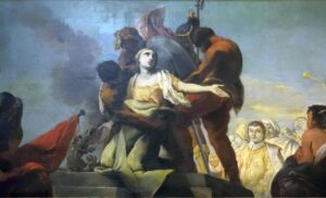 Oratorio di Santa Margherita - Padova - Presbiterio - Martirio di Santa Margherita (particolare)