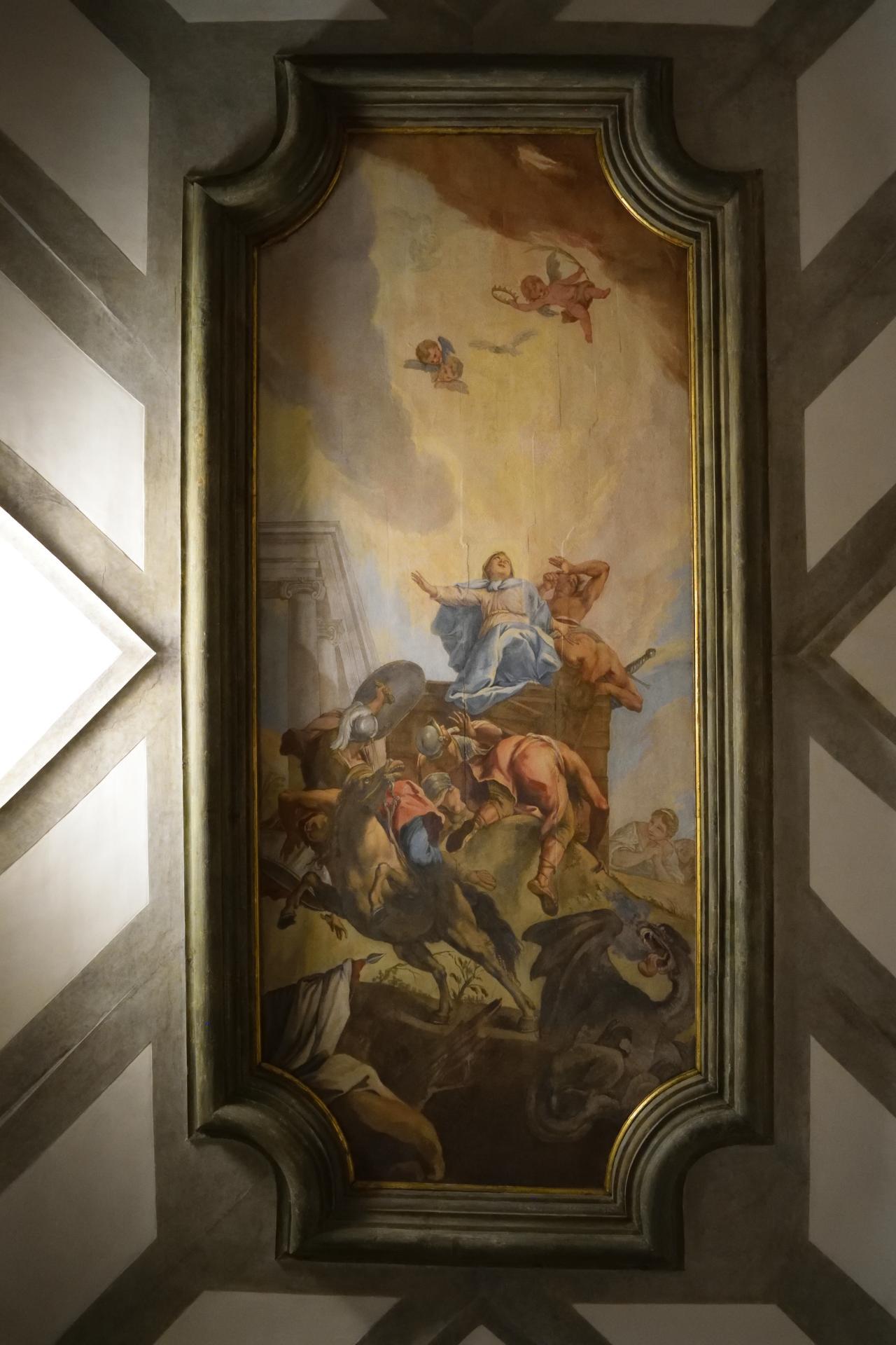 Oratorio di Santa Margherita - Padova - Soffitto - Apoteosi di Santa Margherita